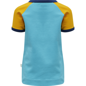 hmlANTON T-SHIRT S/S, SCUBA BLUE, packshot