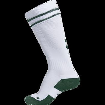 ELEMENT FOOTBALL SOCK , WHITE/EVERGREEN, packshot