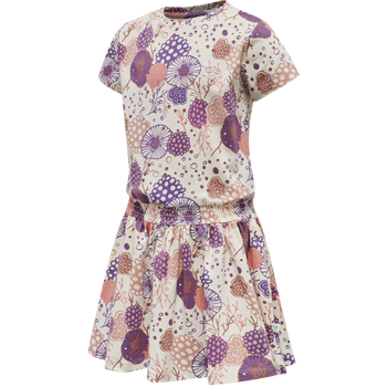 hmlCORAL DRESS S/S, MOTHER OF PEARL, packshot