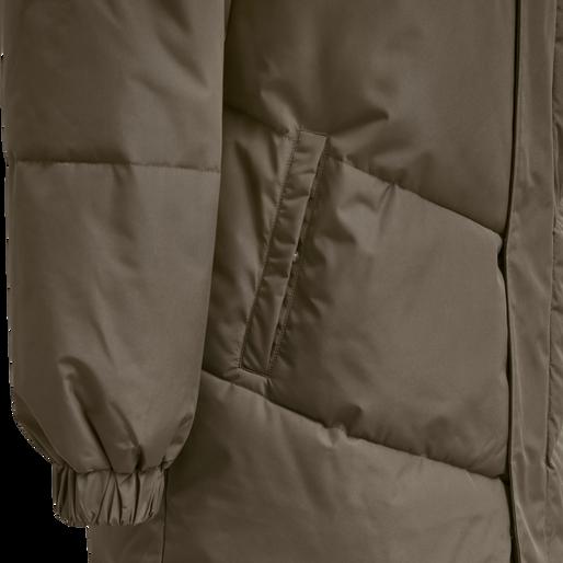 hmlTHOMAS LONG PUFFA JACKET, WALNUT, packshot