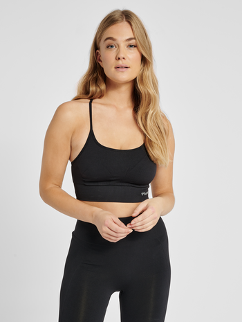 hmlTIFFY SEAMLESS SPORTS TOP, BLACK, model