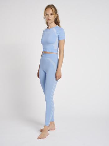 hmlSI SEAMLESS TIGHTS, BEL AIR BLUE, model