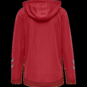 hmlLEAD WOMEN POLY HOODIE, TRUE RED, packshot