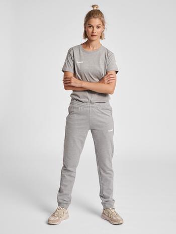 HUMMEL GO COTTON T-SHIRT WOMAN S/S, GREY MELANGE, model