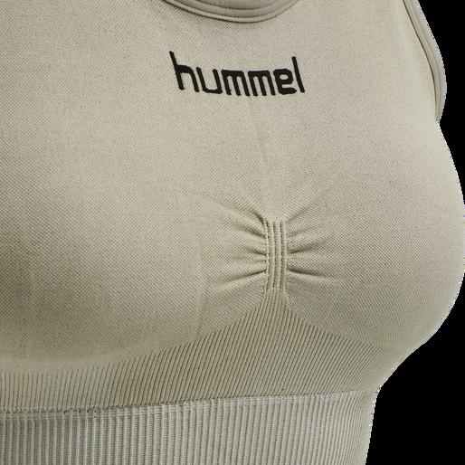 HUMMEL FIRST SEAMLESS BRA WOMEN, LONDON FOG, packshot