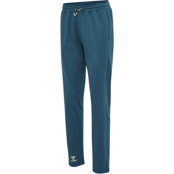 hmlACTION COTTON PANTS WOMAN, BLUE CORAL/GREEN ASH, packshot