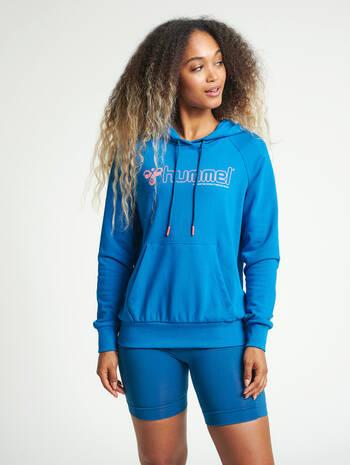 hmlNONI HOODIE, MYKONOS BLUE, model