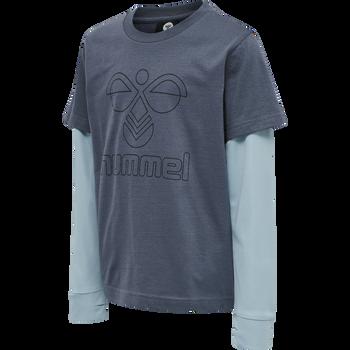 hmlMALTE T-SHIRT L/S, OMBRE BLUE , packshot