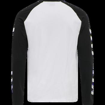 hmlLEGACY BLOCKED T-SHIRT L/S, WHITE, packshot