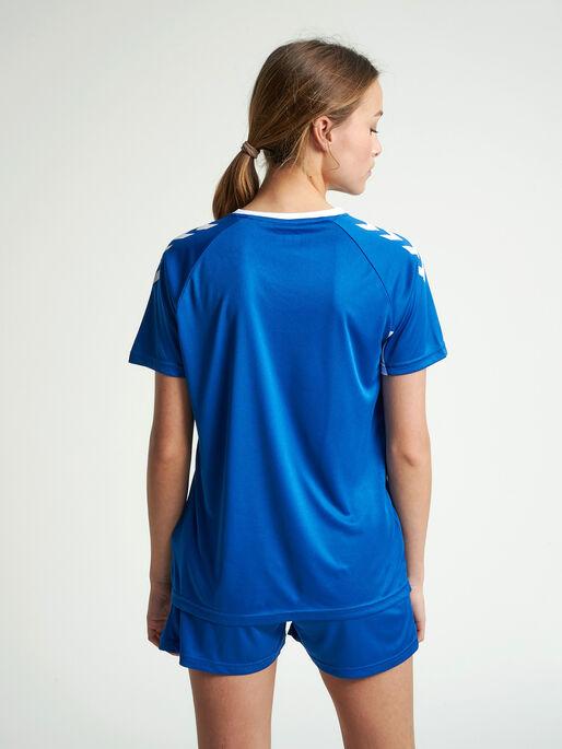 CORE TEAM JERSEY WOMAN S/S, TRUE BLUE, model