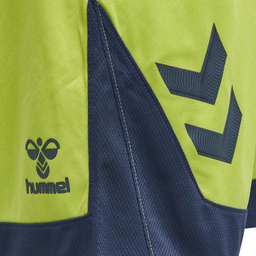 hmlLEAD POLY SHORTS, LIME PUNCH, packshot